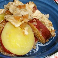 豚肉とさつま芋の梅風味