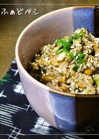 さば水煮缶のスタミナさば納豆✿ご飯のお供