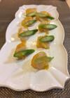 貝柱とオレンジのサラダ