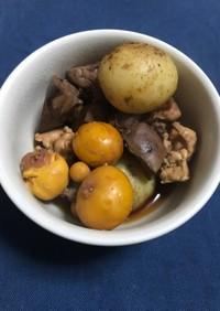 【男飯】鶏キンカンと鶏らレバーの甘煮