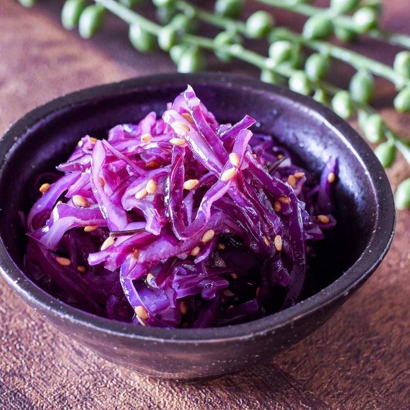 紫キャベツのナムル◎作り置きに♪