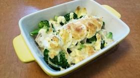 【MEC】鶏胸ブロッコリー卵マヨチーズ焼