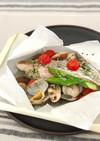 切り身魚のカルトッチョ(紙包み焼き)