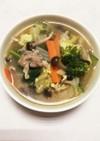 塩麹と黒コショウの食べるスープ