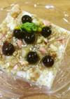 簡単☆豆腐デザート☆木の実と菜の花添え♪