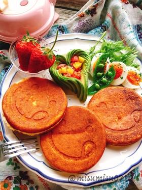 小麦粉、米粉なしのアーモンドパンケーキ