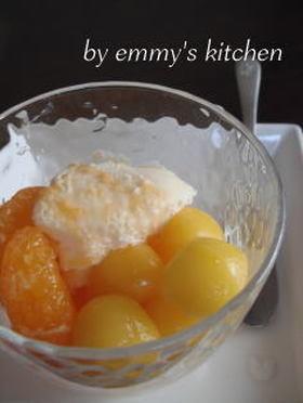 オレンジ白玉デザート