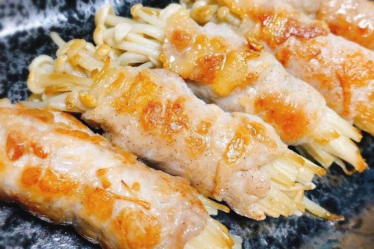 豚 バラ えのき 巻き シャキシャキえのきの肉巻き 作り方・レシピ クラシル