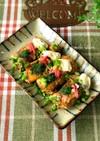 豆腐の肉巻きお好み焼き風