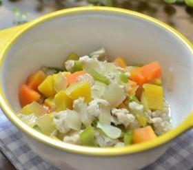 【離乳食 後期】4色野菜と豚肉のだし煮