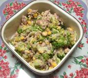 鯖の水煮缶とブロッコリーの和風サラダの写真