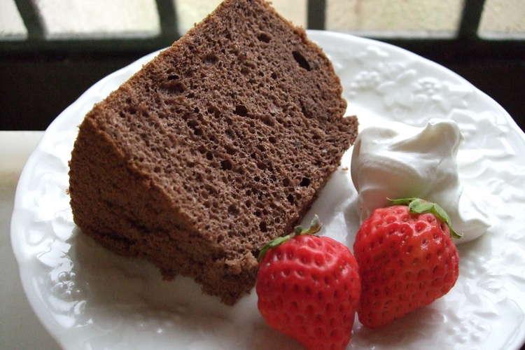 ケーキ ココア シフォン とてもくわしいシフォンケーキのレシピ