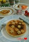 春満開♪森永もちもちホットケーキの朝食