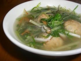 ★水菜とつくねの中華スープ★