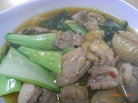 ■鶏肉と青梗菜のとろみ炒め■