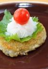 レンコン豆腐ハンバーグ