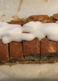HM+油 バナナケーキ 簡単アイシング