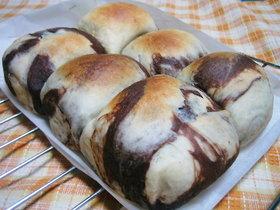 マーブルちぎりパン♪