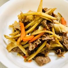 牛肉とごぼうのゴマ煮