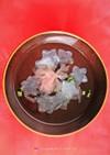 桜の花の塩漬けと蕪(大根)のお吸い物