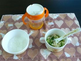 離乳食中期☆ブロッコリーの豆腐あえ