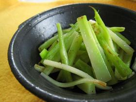 香ばしい!ブロッコリー茎のごま油炒め