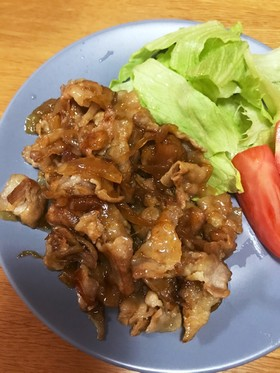 豚バラで作る子供の好きな味の簡単生姜焼き