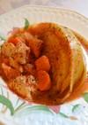 丸ごとキャベツと鶏胸肉のクリームトマト煮