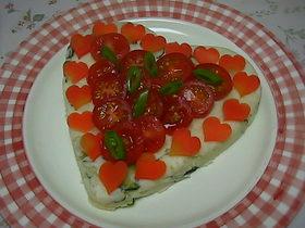 ハートのLOVE LOVE ポテトサラダ