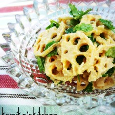 シャキシャキ蓮根とパセリの和風サラダ