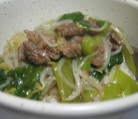 牛肉とチンゲン菜の中華丼