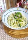 塩サバ&小松菜の昆布茶スパゲティ