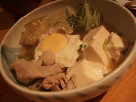 白菜とお豆腐の、たいたん