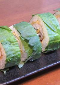 穴子と玉子の青じそ巻き寿司