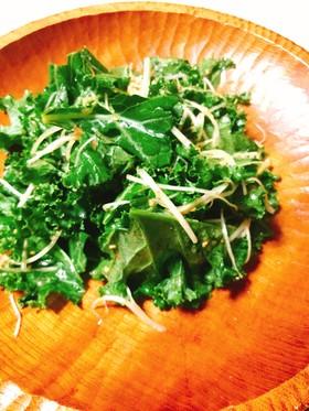 ケールと白髪ねぎの韓国風〜味噌サラダ