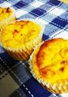 糖質制限!おからかぼちゃカップケーキ