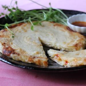 香ばしフライパンチーズネギ餅