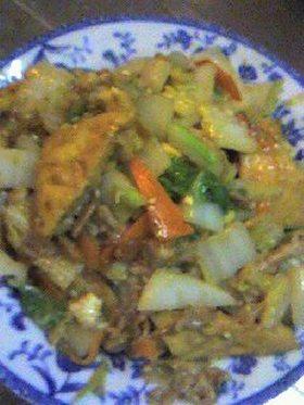厚揚げと白菜のオイマヨ炒め