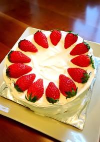 いちごケーキの簡単デコレーション