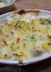 鶏肉キャベツ・ブロッコリーしめじグラタン
