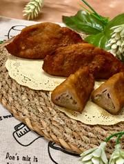 パンの耳で餃子揚げパンの写真