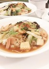 常備食材で中華丼に 美味しい八宝菜丼♪