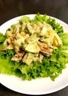 アボカドと卵と竹輪サラダ