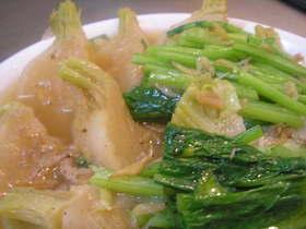 かぶと豚肉の煮物 桜海老のだしで。