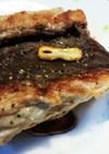 マグロの血合いガーリックステーキ