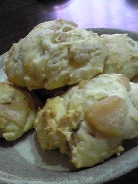 忙しい朝に♡あま~いりんごパン
