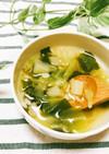 キャベツと押し麦の春スープ