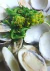 蛤と菜の花の酒蒸し
