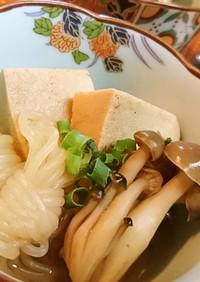 ほっこり♪【高野豆腐と結び白滝の煮物】