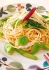 春野菜と白魚のシンプルペペロンチーノ